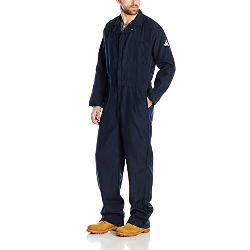 dd52ff1a4382 Bulwark Men s Flame Resistant 4.5 Oz Nomex IIIA Classic Coverall with  Hemmed Sleeves