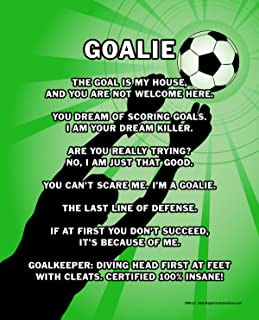"""Posters and Prints by Magnetic Impressions Unframed Soccer Goalie 8"""" x 10"""" Sport Poster Print"""