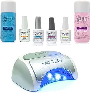 Gelish Gel Nail Polish Basix Care Kit + Professional Gel Nail Polish LED Lamp