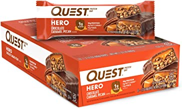 Quest Nutrition Chocolate Caramel Pecan Hero Protein bar, Low Carb, Gluten Free, 10 Count