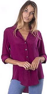 CAMIXA 100% Silk Blouses for Women Long Sleeve Ladies Shirts Button Up Silks Top