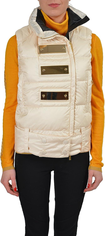 Just Cavalli Ivory Full Zip Duck Down Women's Vest US S IT 40