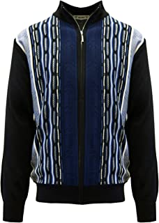 STACY ADAMS Men's Sweater, Modern Cable Knit Jacquard