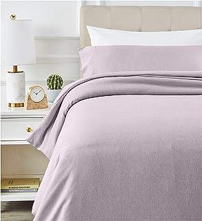 comprar comparacion AmazonBasics - Juego de ropa de cama con funda de edredón, de microfibra, 135 x 200 cm, Morado (Purple Dusk)