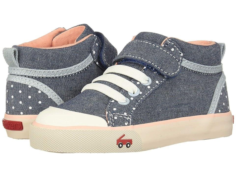 See Kai Run Kids Peyton (Toddler/Little Kid) (Chambray Dots) Girls Shoes
