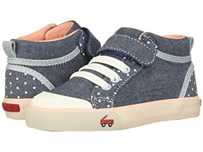 See Kai Run Kids Peyton (Toddler/Little Kid) (Chambray Dots) Girls Shoes