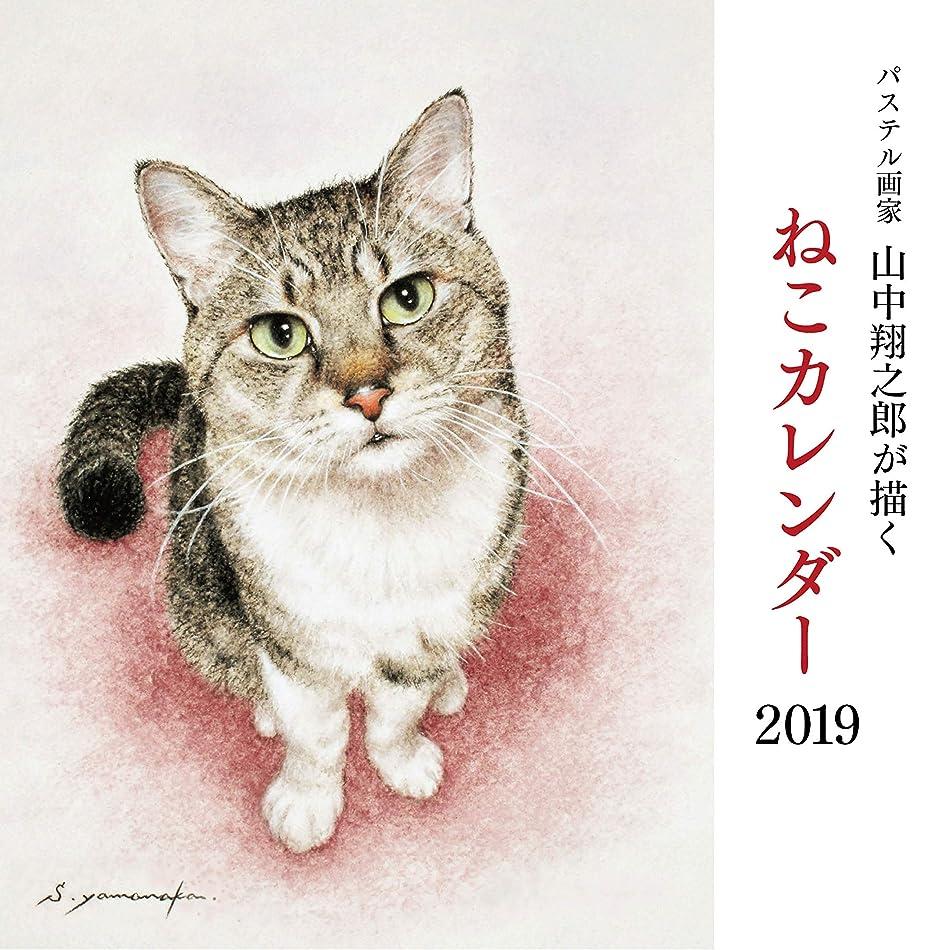 検出器クラウド取り出すパステル画家山中翔之郎が描くねこカレンダー2019 ([カレンダー])