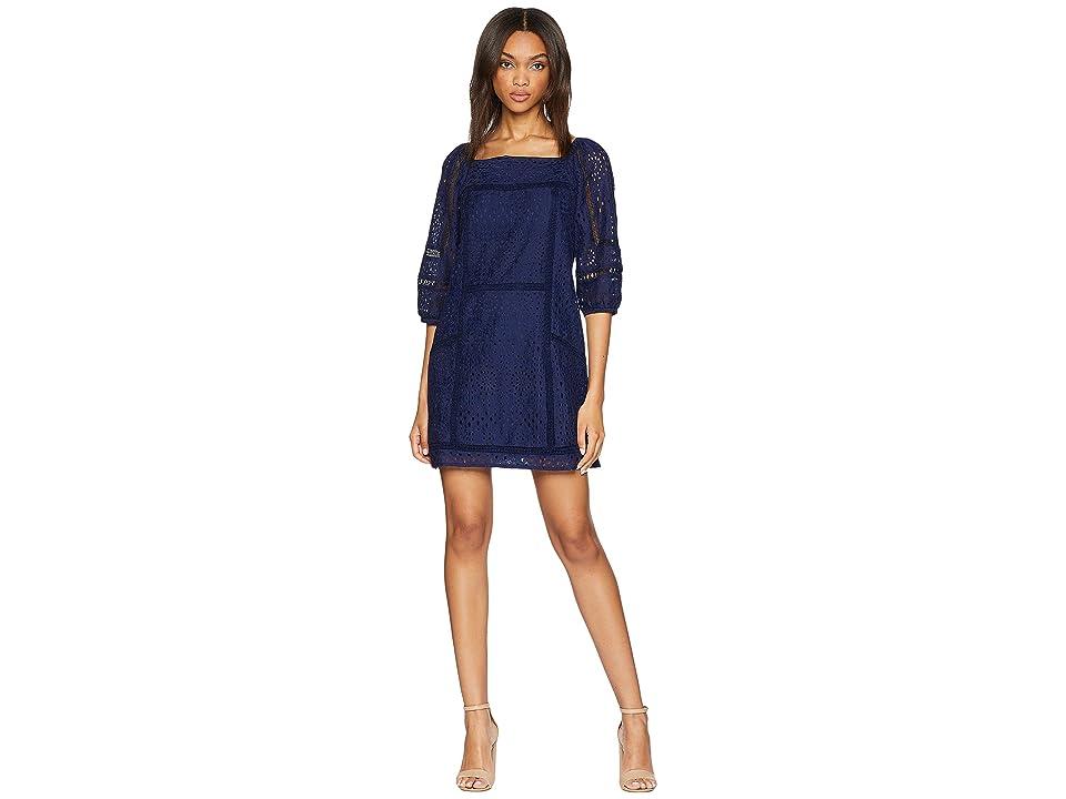 Image of Adelyn Rae Charmaine Shift Dress (Navy) Women's Dress