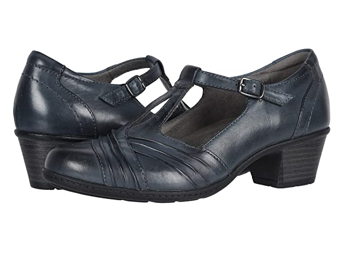 Retro Vintage Style Wide Shoes Earth Marietta Stellar Admiral Blue Eco Calf Womens  Shoes $79.94 AT vintagedancer.com