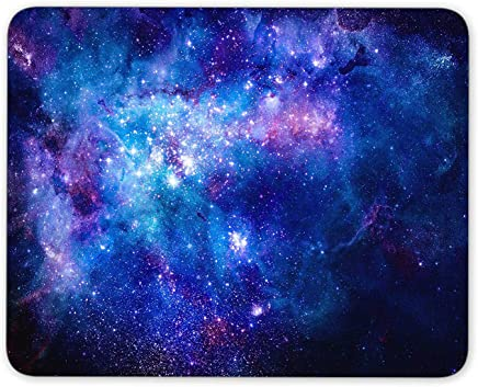 tecmac Nebula gas cloud in deep outer space mouse pad, Natural Rubber Mouse Pad, Quality Creative Wrist-protected Wristbands Personalized Desk, Mouse Pad (9.5 inch x 7.9 inch)