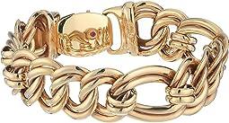 18K Flat Curb Link Bracelet