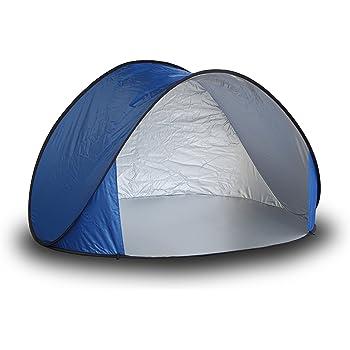 SEIKOH ワンタッチテント ポップアップテント サンシェードテント 144cm UVカット ブルー 青色 BAA0200D
