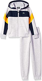 Lacoste Boy Sport Mix of Fabrics Color Block Tracksuits
