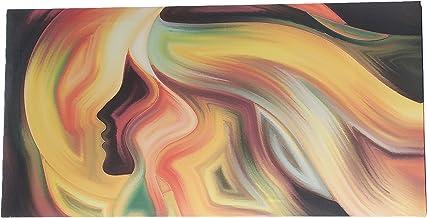 لوحة فنية قماشية للجدار، لوحة تجريدية مؤطرة 60 * 120