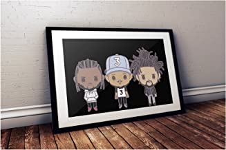 J Cole - Kendrick Lamar - Chance The Rapper Poster (18x24 inches)