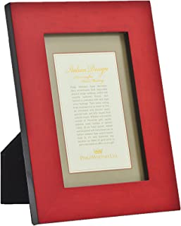 Red Burlington Marquitry Picture Frame