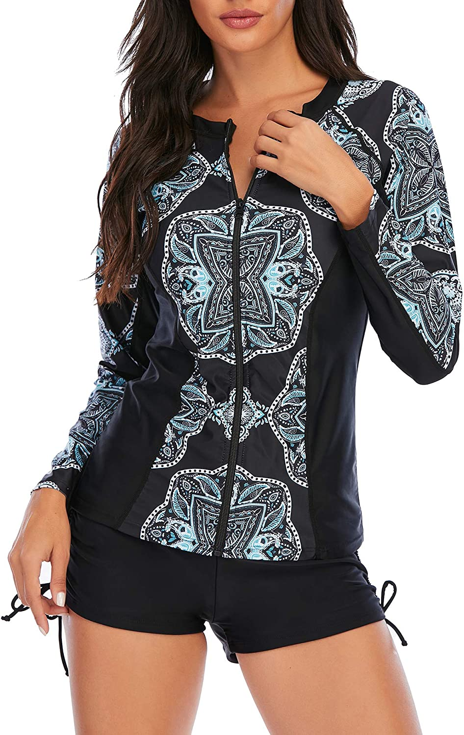 American Trends Long Sleeve New York Mall Bathing Suits Pieces for Women S Two Opening large release sale