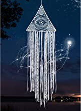 KHOYIME Large Dream Catchers White Dreamcatcher with Evil Eye Bohemian Wall Hanging for Bedroom Home Decoration Room Ornament Crafts Gift