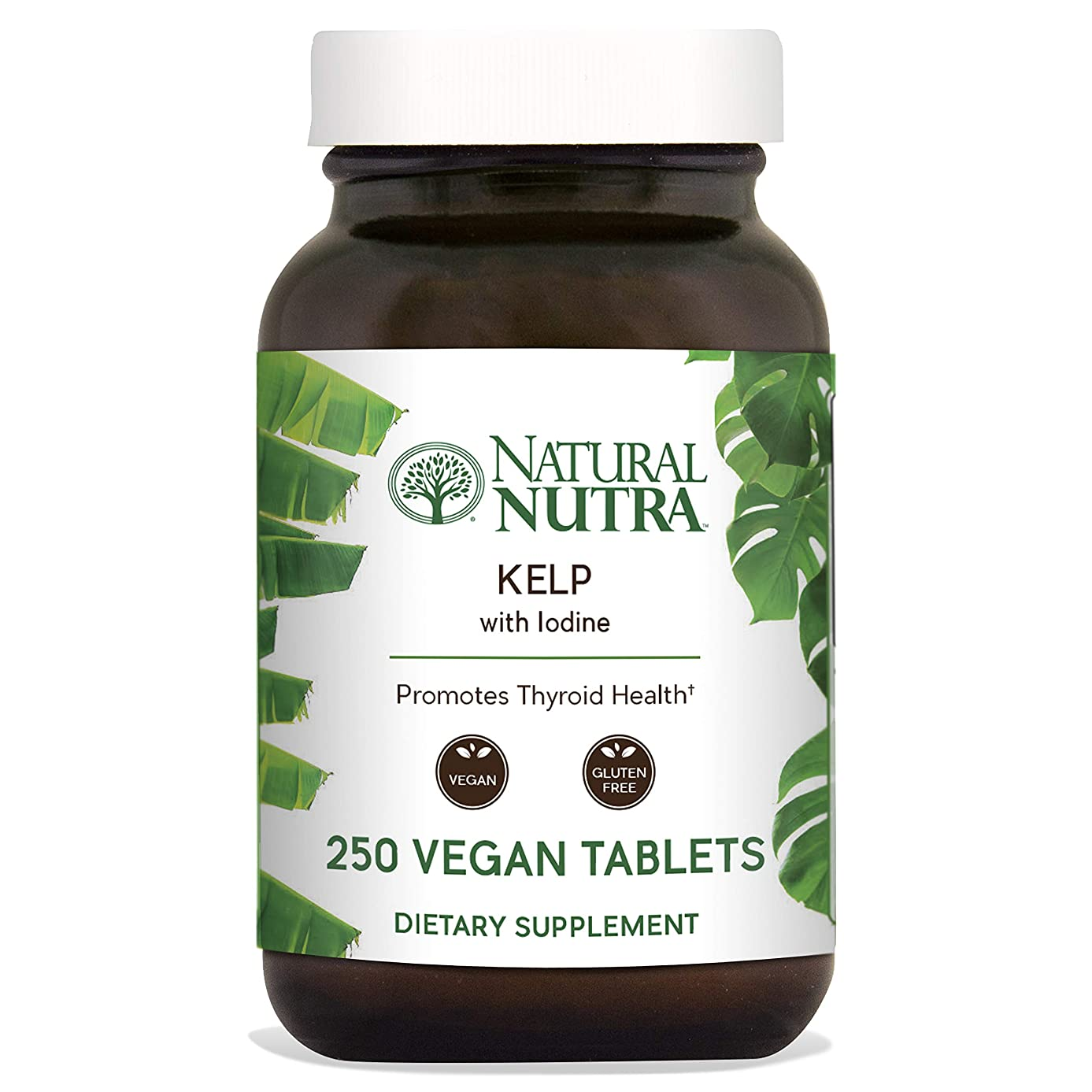 Natural Nutra Kelp Iodine Supplement, North Atlantic Sourced Seaweed Extract, 225 mcg, 250 Vegetarian Tablets