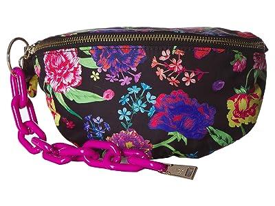 Betsey Johnson Nylon Bum Bag (Black Floral) Bags