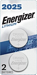 Energizer CR2025 Battery, 3V Lithium Coin Cell 2025 Batteries (2 Battery Count) –..