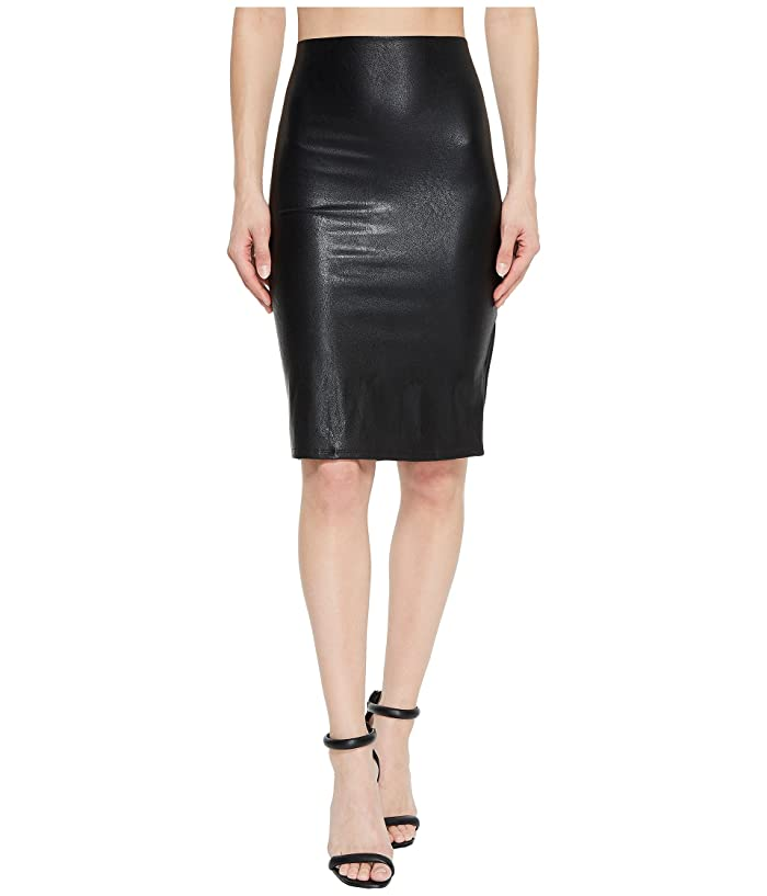Commando Faux Leather Perfect Pencil Skirt SK01 (Black) Women's Skirt