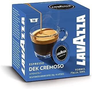 Lavazza A Modo Mio Espresso Dec Cremoso, Caffè, Decaffeinato, Cialde, Arabica, 16 Capsule