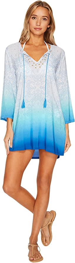Last Night in Morocco Embellished V-Neck Tunic Cover-Up