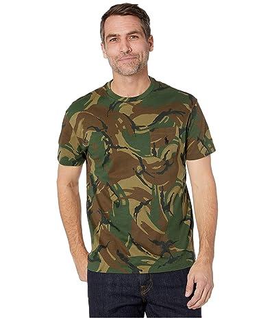 Polo Ralph Lauren Short Sleeve Vintage Hibiscus Crew T-Shirt (British Elmwood Camo) Men