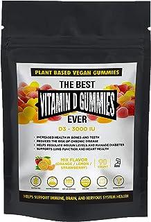 The Best Vitamin D3 Gummies Ever Vegan Plant Based Gluten & Gelatin Free Non GMO Kosher Natural Immune Support Heart Healt...