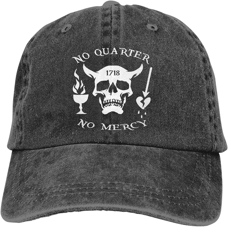 Blackbeard No Quarter 1718 Pirate Skull Classics Men's Women Baseball Hat Comfort Adult Baseball Hat