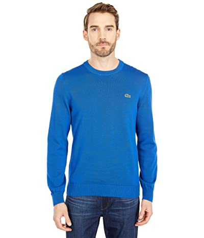 Lacoste Long Sleeve Crew Neck Sweater (Electric) Men