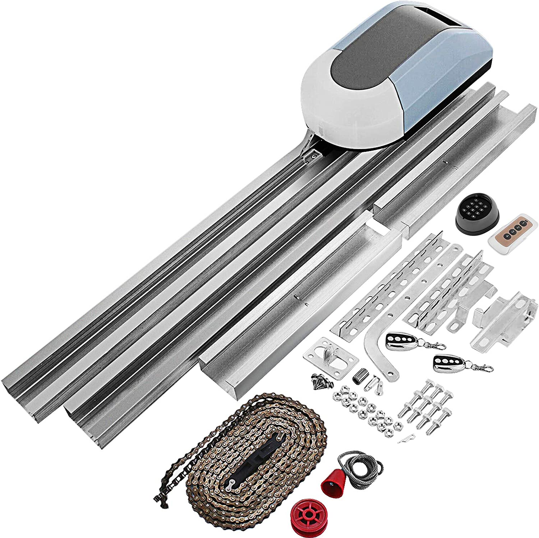 VEVR Abridor de Puerta Garaje Automática 200 W con Velocidad de 120 mm/s 1000 N Motor para Puerta Automática con Control Remoto de Doble Vía de Distancia 25~35 m
