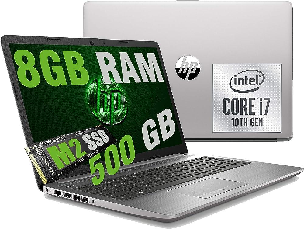 Notebook portatile  hp i7 250 g7, intel quad core i7-1065g7 10th, ram 8gb ddr4 /ssd, graphic intel iris plus ?150B6EA/8GB/M2-500/W10