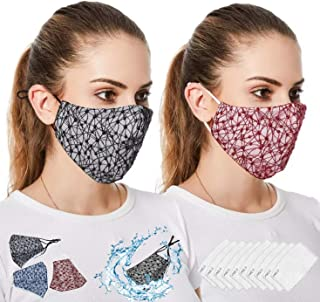 Ladies Mask Washable, Reusable Mask for Female + 10 Pcs Activated Carbon Pads - Stylish, Fashionable, Easy to Breath, Wash...