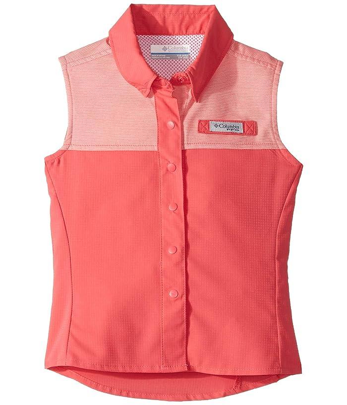 Columbia Kids Tamiamitm Sleeveless Shirt (Little Kids/Big Kids) (Bright Geranium) Girl