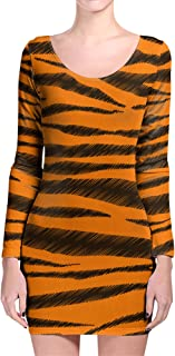 Rainbow Rules Tigger Stripes Winnie The Pooh Inspired Longsleeve Bodycon Dress