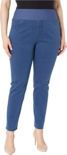 Plus Nina Solid Denim Jeans in Classic Blue