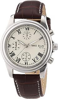 Mike Ellis New York Men's Quartz Watch M2450SSL/1 M2450SSL/1 with Leather Strap