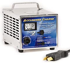 Accusense Intelligent Charger 36volt 18 Amp Golf Cart Battery Charger with Crowfoot Connector