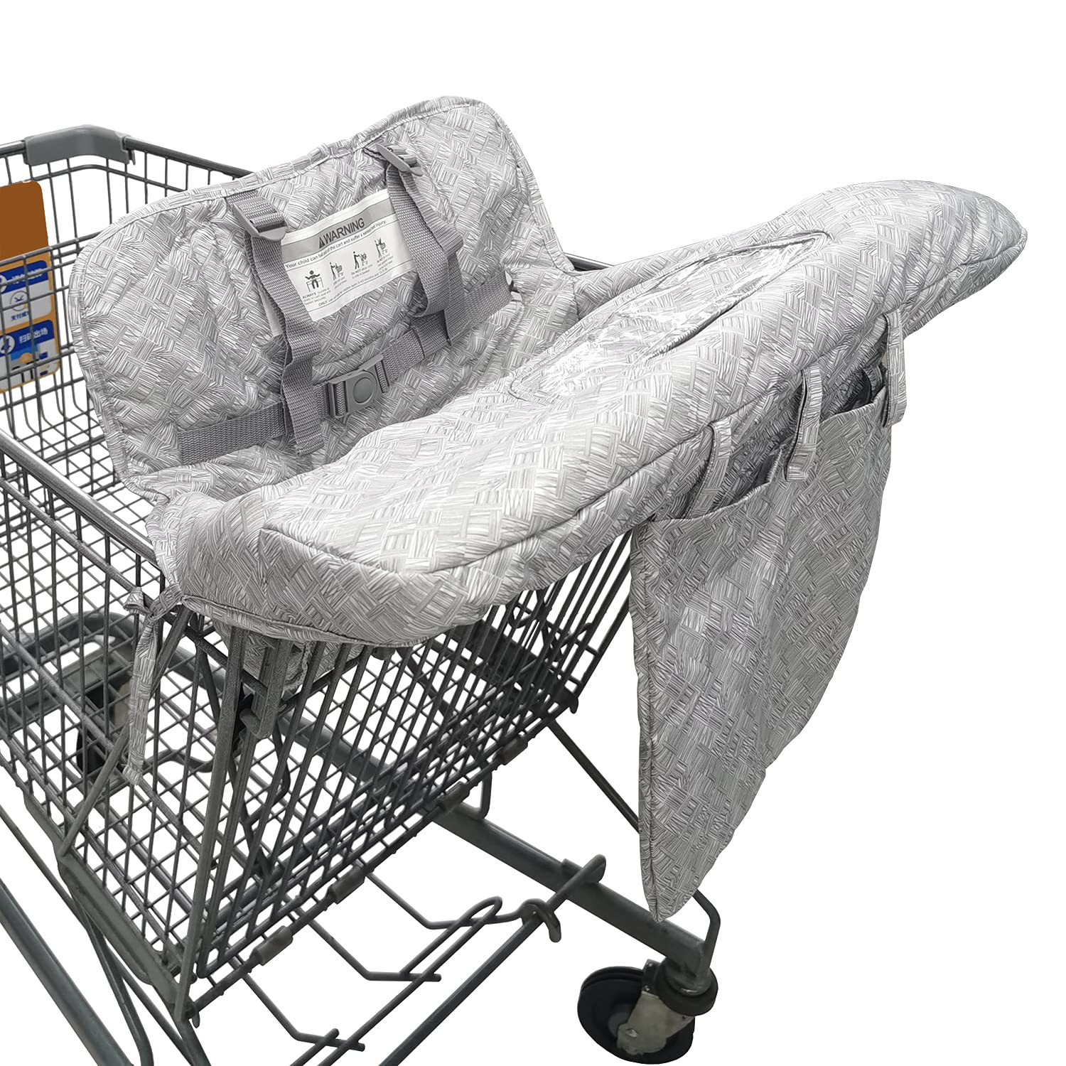Shopping Cart Cover for Baby Boys and Girls, Babies Shopping Cart Seat Cover, High Chair Cover for Babies - Grey