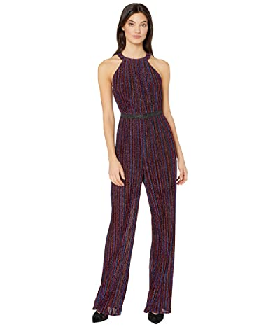 BCBGMAXAZRIA Multicolor Metallic Jumpsuit (Opium) Women