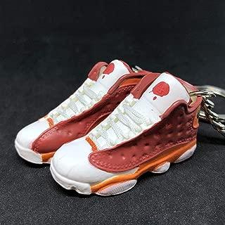 Pair Air Jordan XIII 13 Retro BIN23 BIN Premio OG Sneakers Shoes 3D Keychain 1:6 Figure