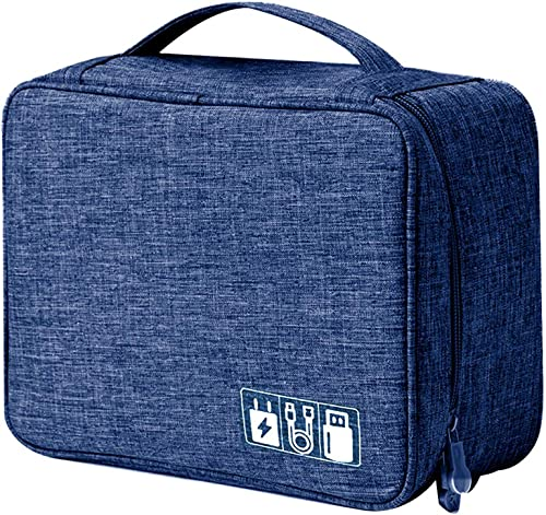 House of Quirk Electronics Accessories Organizer Bag, Universal Carry Travel Gadget Bag for Cables, Plug and More, Pe...