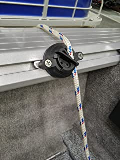 Quick Cleat No-knot Fender Cleat for Gunnel Tracks (4ea), for 1/4 rope