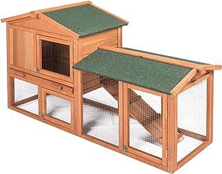 EUGAD Conejera de Exterior Madera Gallineros Casa para Conejos Cobayas Hámster Mascotas Jaula para Conejo Animales Pequeño...