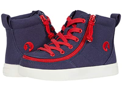 BILLY Footwear Kids Classic Lace High (Toddler) (Navy/Red) Boy