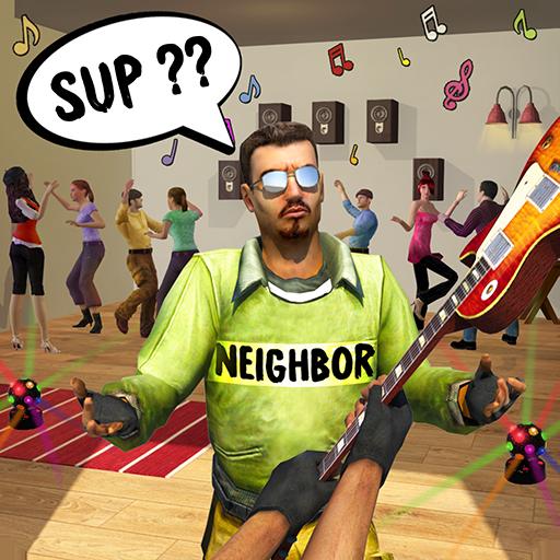 Wütend Nachbar Haus Amoklauf Spiel: Zerstören Nachbar Haus Schule Schlagen und Kick Büro Kumpel