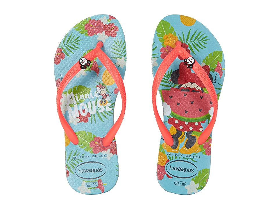 Havaianas Kids Slim Disney Cool Flip Flops (Toddler/Little Kid/Big Kid) (Ice Blue) Girls Shoes