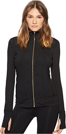 Kate Spade New York Athleisure Floral Laser Cut Jacket